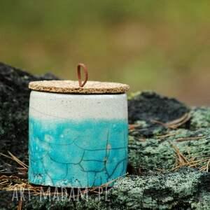 handmade ceramika unikat pojemniki ceramiczne 2 szt. |