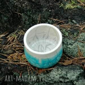 turkusowe ceramika pojemniki ceramiczne 2 szt. |