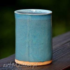 hand-made ceramika słój pojemniki ceramiczne 2szt.