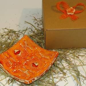 nietuzinkowe ceramika miseczka pomarańczowa