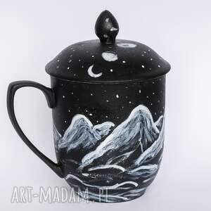 hand made ceramika góry porcelanowy kubek z przykrywką