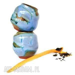 hand-made ceramika matero v- czarki do yerba mate 2szt