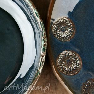 ciekawe ceramika obiad rosette zestaw naczyń
