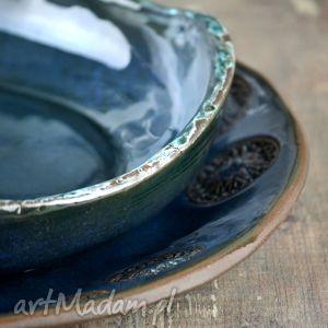 ceramika obiad rosette zestaw naczyń