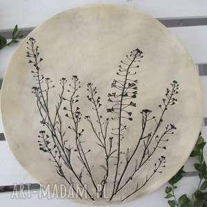 modne ceramika ceramiczny roślinna patera