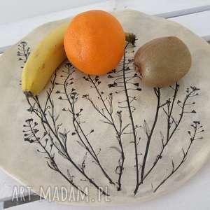 beżowe ceramika ceramiczny roślinna patera