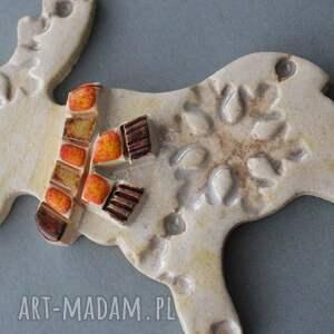 pomysł na świąteczne prezentyrudolfik magnes ceramiczny - prezent lodówka