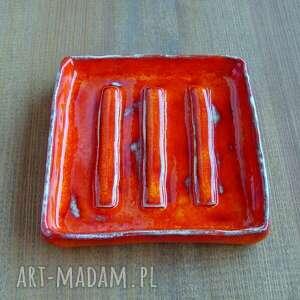 atrakcyjne ceramika mydelniczka rustykalna