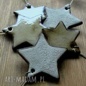 ręcznie zrobione ceramika gwiazdki rustykalne