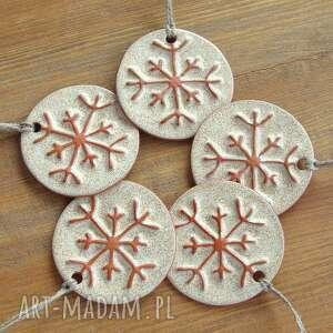 prezent święta świąteczne rustykalne śnieżynki