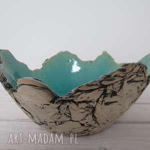 dekoracyjna ceramika turkusowe sardynia artystyczna miska rozmiar