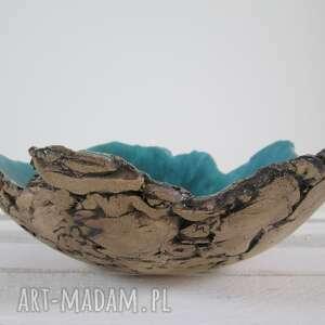 artystyczna ceramika turkusowe sardynia dekoracyjna miska
