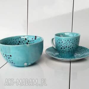 hand-made ceramika prezent serwis obiadowy jednoosobowy