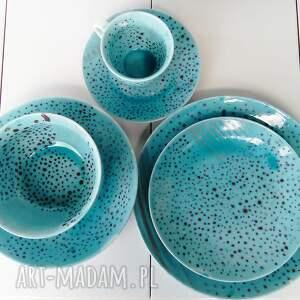 ceramika malowana-ceramika serwis obiadowy jednoosobowy