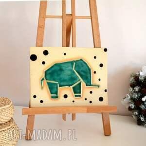 ceramika ceramiczny słoń