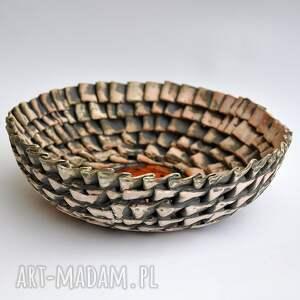 pomarańczowe ceramika surowa misa w zakładki