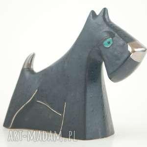 ceramika sznaucer - pies na biżuterię