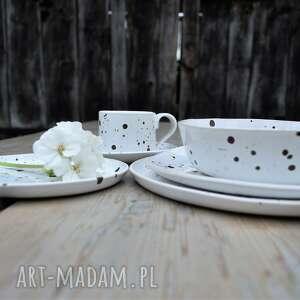 ceramika nakrapiane talerz ceramiczny obiadowy - zestaw