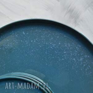 ceramika turkusowe talerz ceramiczny - zestaw talerzy