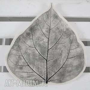 czarne ceramika dekoracyjna talerz liść