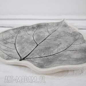 gustowne ceramika patera talerz liść