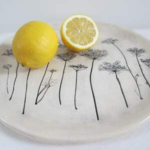 gustowne ceramika roślinny talerz z roślinami baldachami