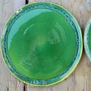 turkusowe ceramika talerz - zestaw talerzy dla dwojga