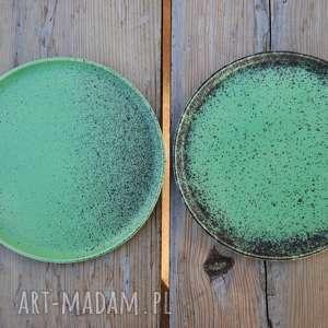 ceramika: Talerze ceramiczne matowe - Zestaw dla dwojga