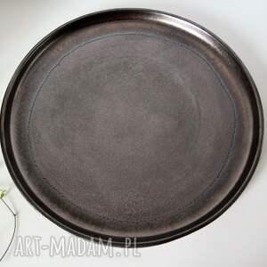 ceramika talerze ceramiczne złotobrązowe