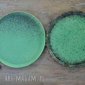 czarne ceramika talerz talerze ceramiczne matowe - zestaw
