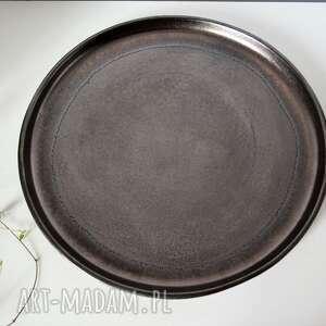 brązowe ceramika talerze ceramiczne złotobrązowe