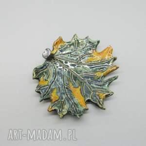 Talerzyk dekoracyjny - Fantazyjny liść - wnętrze wnetrze
