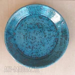 talerz ceramika turkusowe talerzyk deserowy turkusowy
