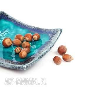 listki ceramika talerzyki ceramiczne turkusowe