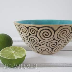 Ceramika Ana: turkusowa miseczka ceramiczna - parapetówka prezent urodzinowy