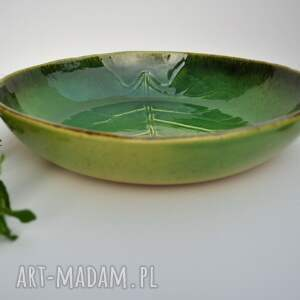 frapujące ceramika liść misa