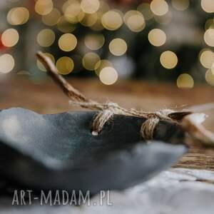 modne ceramika patera komplet miseczek z drewnem