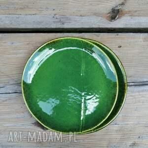 gustowne ceramika liść zestaw talerzy z liściem chrzanu