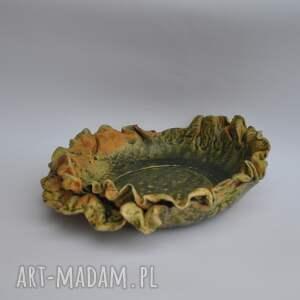 talerz ceramika w kolorach jesieni