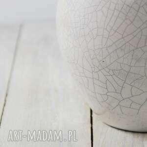 awangardowe ceramika handmade wazon biały raku