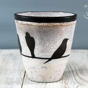 raku ceramika wazon osłonka jaskółki