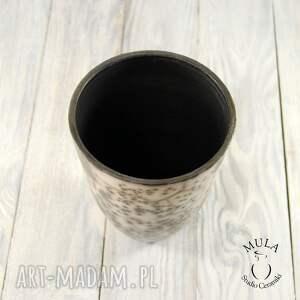 Ceramika MULA Wazon osłonka na storczyk Raku - kwiaty