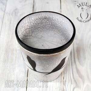 ceramika raku wazon osłonka jaskółki