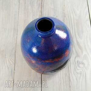 ceramika raku wazon wróbelki