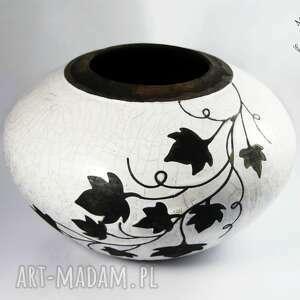 ceramika wazon raku liście