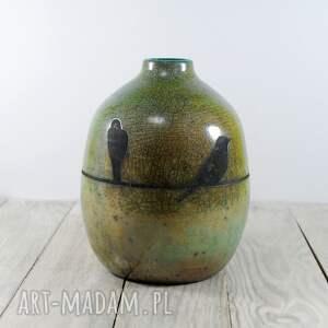 handmade ceramika raku wazon wytoczony ręcznie na kole garncarskim