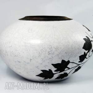 ceramika raku wazon liście winorośli