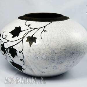 raku ceramika wazon liście