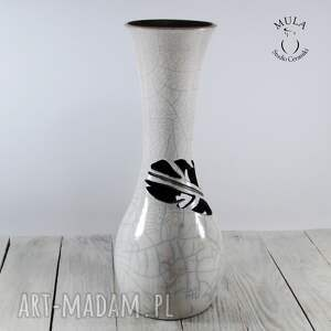 nietuzinkowe ceramika ceramiczny wazon wysoki pióro raku