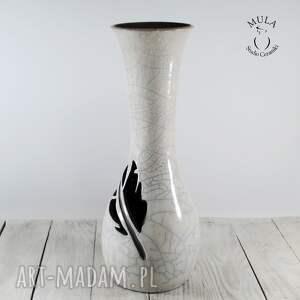nietuzinkowe ceramika raku wazon wysoki pióro